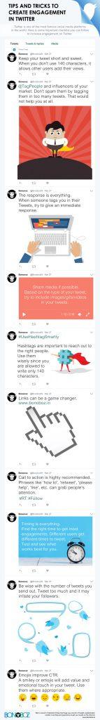 infographics, tips and tricks, engagement on twitter, social media tips, twitter tips