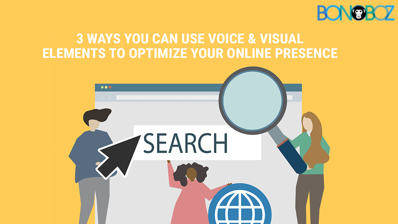 voice and visual elements to optimize your online presence
